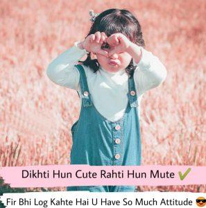 attitude shayari pic girl
