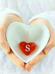 cute heart for S letter whatsapp dp hd